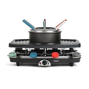 Appareil à raclette, grill & fondue DOC233 Livoo