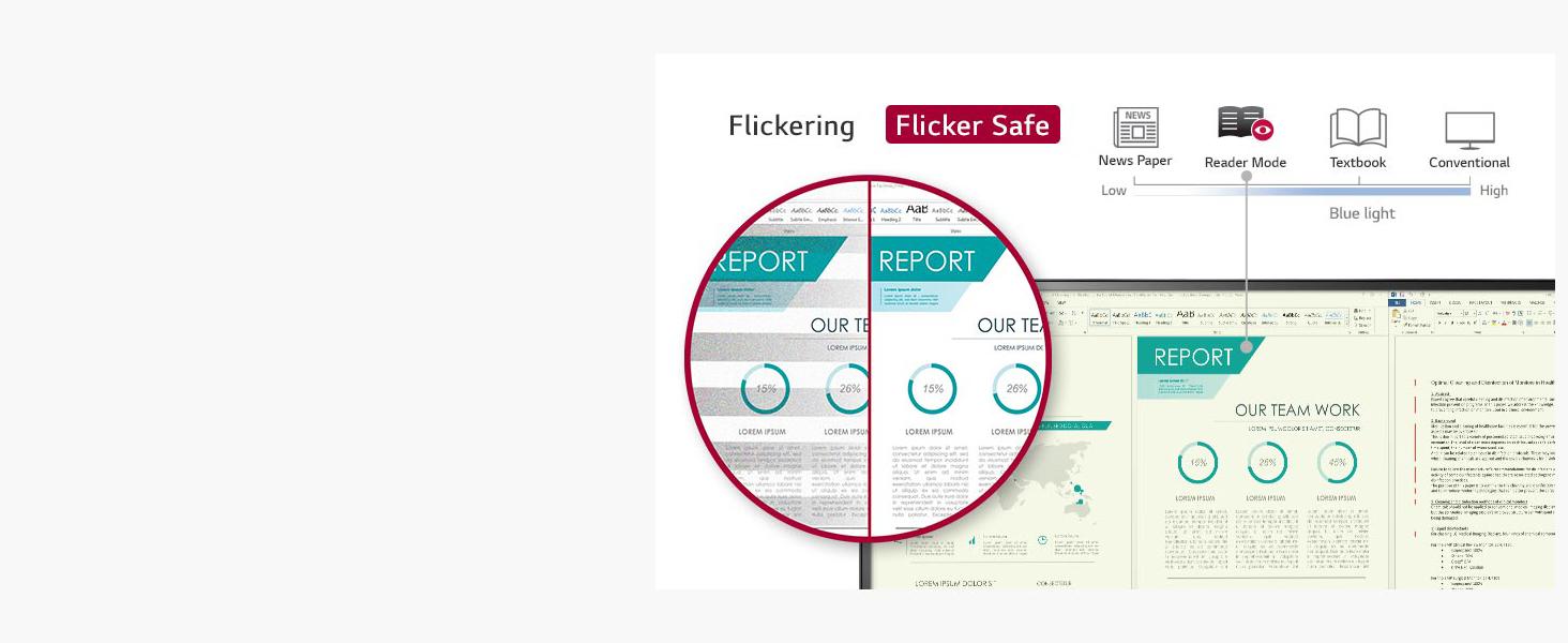 flicker safe, reader mode