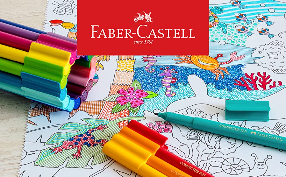 Connector Pens, Colour Markers, Colouring In, Playing, Learning, Bright, Vibrant, Playful, Brilliant