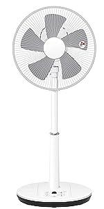 山善 扇風機 30cm リビング扇 マイコンスイッチ 立体首振り 換気 風量5段階調節 静音モード DCモーター搭載 入切タイマー機能 リモコン付き ホワイト YLRX-BKD303(W)