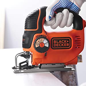 black decker ks801se scie sauteuse avec lame 550 w bricolage. Black Bedroom Furniture Sets. Home Design Ideas