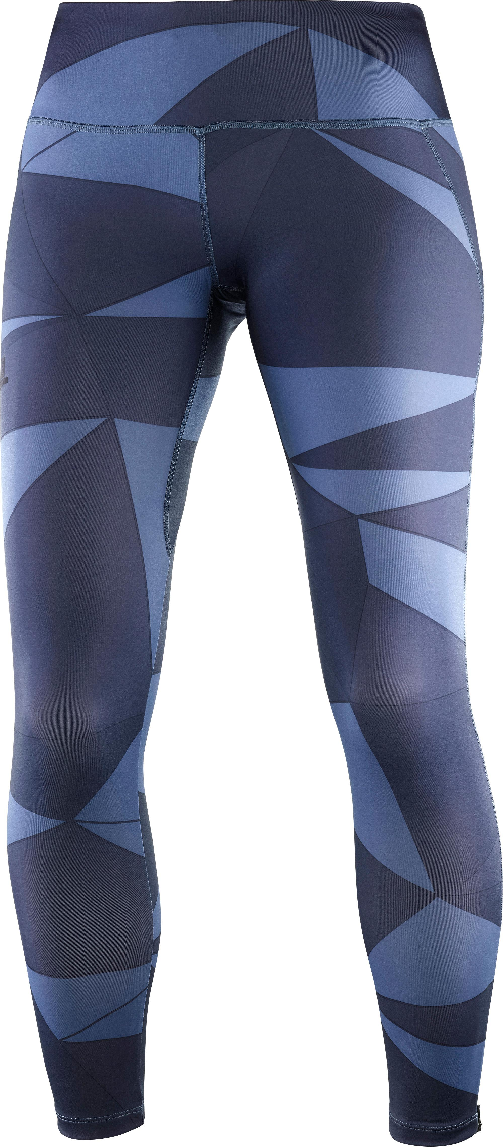 Salomon Damen 3//4 Lauf-Leggings Agile Mid Tight W Synthetik
