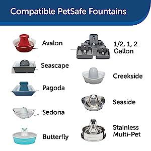 pet water fountain, free-falling water