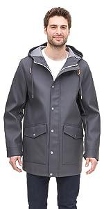 Levi's men's Rubberized Rain Parka Jacket