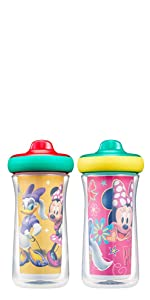 Disney Minnie Mouse Insulated Hard Spout Sippy Cups