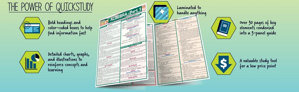 Algebraic Equations (Quick Study Academic): Inc. BarCharts ...