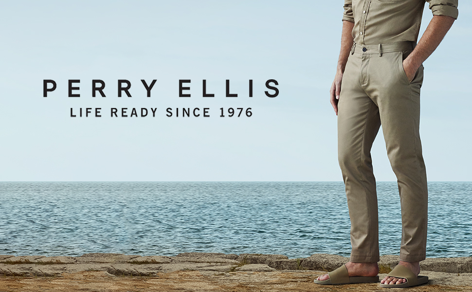 perry ellis logo and pants