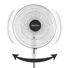 Messh SFZ 6000 - Ventilador de pie, 3 velocidades de ventilación ...