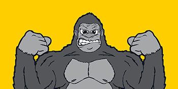 Gorilla-Lift logo with gorilla flexing