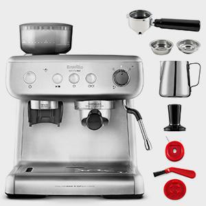 Breville VCF126X Barista Max Espressomaschine mit integriertem Mahlwerk