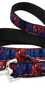 Spider Man spiderman Brick Spidey Web Peter Parker Leash Dog Red Blue