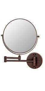 Wall mount mirror, makeup mirror, mirror