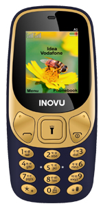 Inovu A1 blue, feature mobile phone, keypad phone, basic mobile, dual sim phone, keypad mobile phone