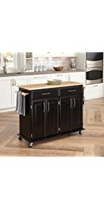 The Orleans Kitchen Island With Butcher Block Top · The Orleans Kitchen  Island With Quartz Top · The Orleans Kitchen Cart · Stainless Steel Top  Kitchen Cart ...