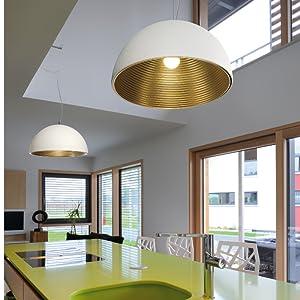 Suspension intérieure - Lampe suspendue - Lampe d'intérieur - Plafonnier pour salle à manger, cuisine.
