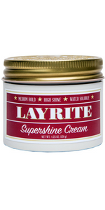 Supershine Cream High Hold Low Shine Gel Wax Clay hair Care Barbershop Barber Easy To Use Layrite
