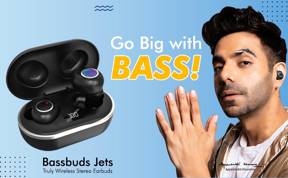 pTron Bassbuds Jets Wireless Headphones