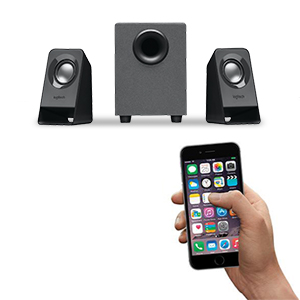 speaker system, speaker system with subwoofer, stereo speakers, 2.1 speakers, USB powered speakers,