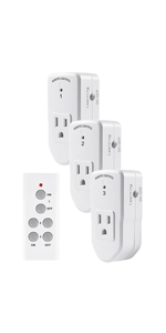 Century Wireless Remote Control Electrical Outlet Switch (1 Remote, 3 Outlet)