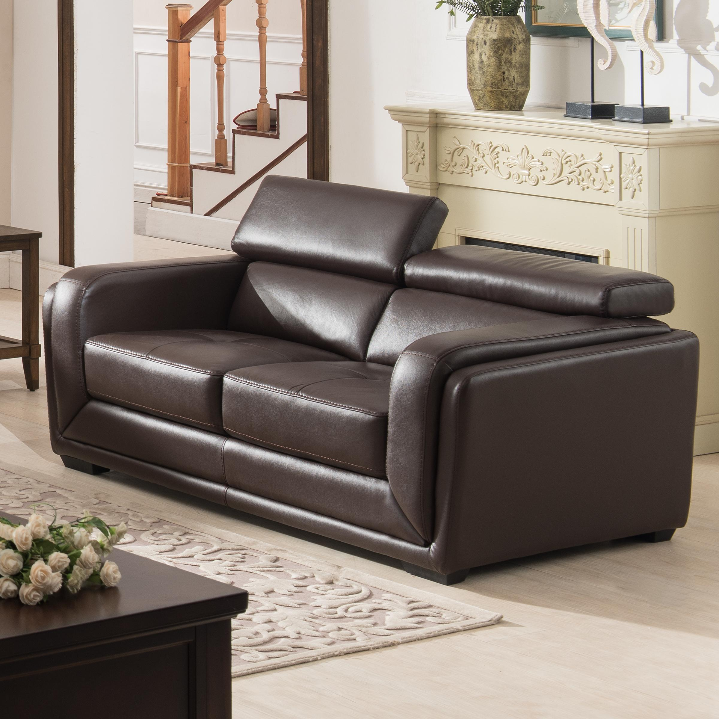 Leather Furniture Traveler Collection: Amazon.com: AC Pacific 2 Piece Calvin Collection Modern