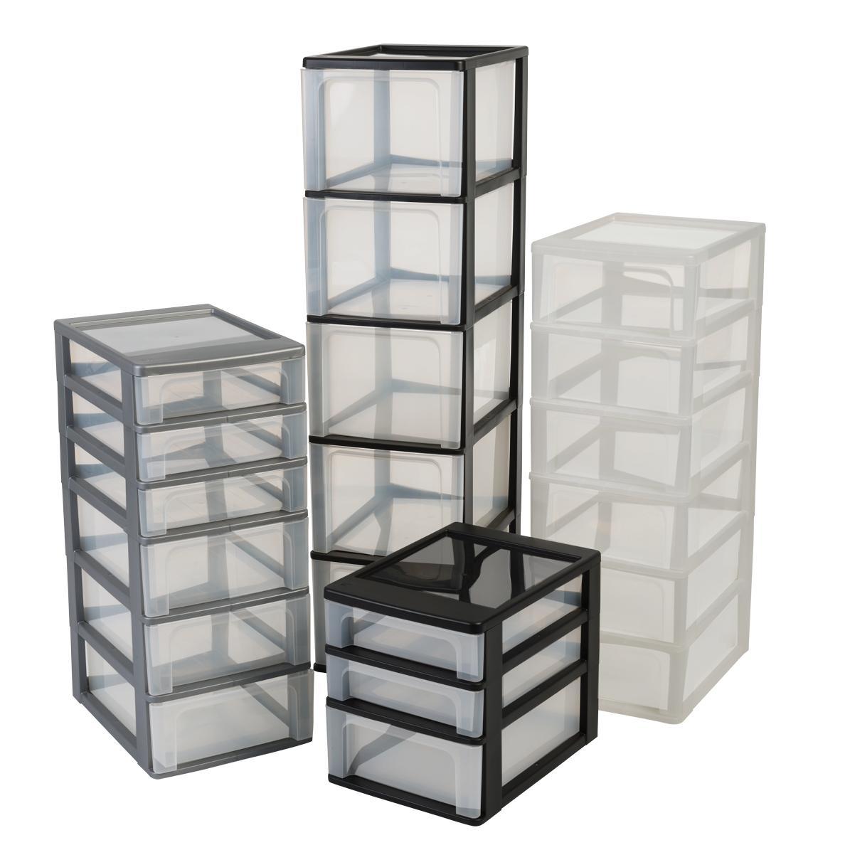 iris organizer chest och 2006 schubladencontainer schrank kunststoff schwarz transparent. Black Bedroom Furniture Sets. Home Design Ideas