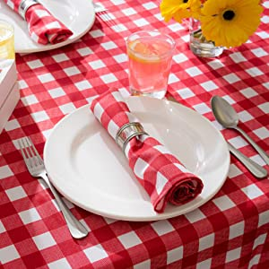 outdoor birthday fabric dinner gingham linen plates picnic coffee supplies burlap cloths napkin