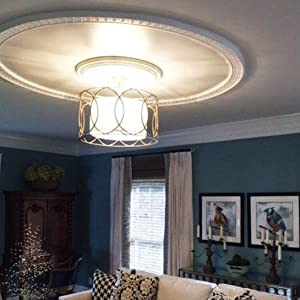 ceiling ring and medallion