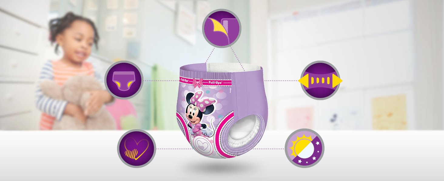 Potty training pants are different from diapers, but they still provide protection against leaks.
