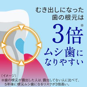 むき出しになった歯の根元は3倍ムシ歯になりやすい