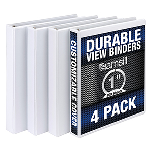 Samsill Durable View Binders