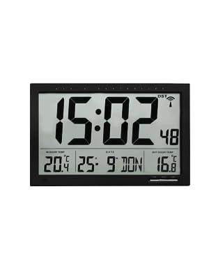 Digitale XL-Funkuhr mit Außen- und Innentemperatur, Art.Nr.: 60.4510.01