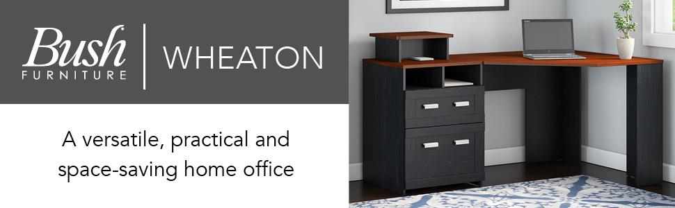 Amazon Com Bush Furniture Wheaton Corner Desk Antique