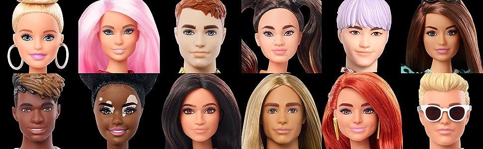 Barbie Fashionistas Muñecos Ken a la última moda niñas regalo navidad cumpleaños