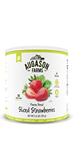 Augason Farms Emergency Survival Food Strawberries Fruit 10 Can