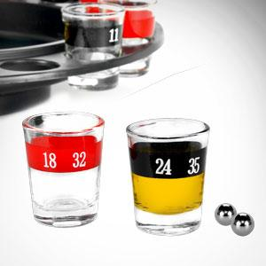 shot glass, roulette balls, roulette, spinner