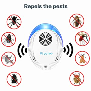Para Interiores Mosquitos Repelente Ultras/ónico Moscas Electr/ónico Ahuyentador Alta Potencia Ratones 100/% Inofensivo para Humanos 6 Pack Plagas Control Interiores Repelente Ultras/ónico de Plagas