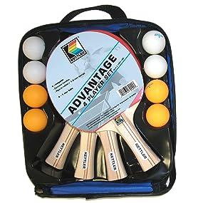 paddle, paddle set, carrying case, 4-Player set