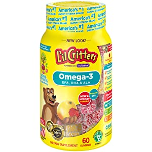 Lil Critters Omega-3 DHA, 60 Count (Packaging May Vary)