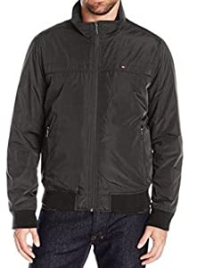 Tommy Hilfiger Mens Performance Barracuda Bomber Jacket with Logo