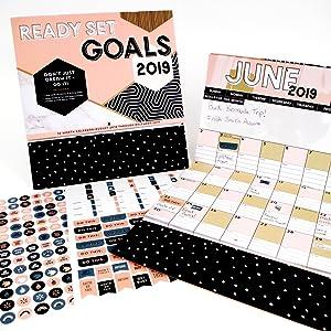 Calendar For 2019-16 Ready Set Goals! 2019: 16 Month Calendar   September 2018 through