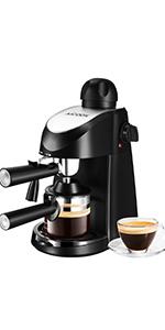 Aicook cafetera espresso, 15 bares presión, depósito agua extraíble 1,5l, panel lcd, sistema cappuccino, dispensador de café ajustable, limpieza automática, plateado: Amazon.es: Hogar