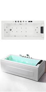 whirlpool Deep Soaking Bathtub
