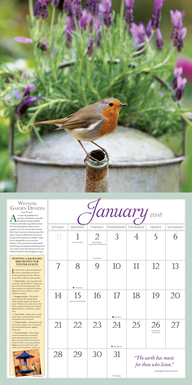 amazon com audubon birds in the garden wall calendar 2018
