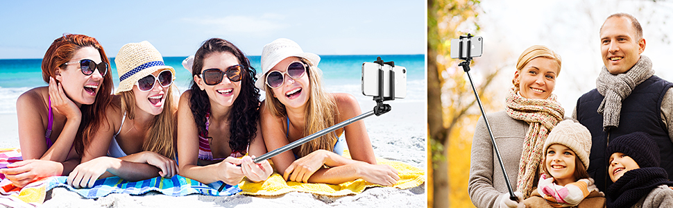bluetooth selfie stick, selfie stick for iPhone XR/XS/XS MAX/X/8/7/8P/7P/6, Sumsung Galaxy/ Note