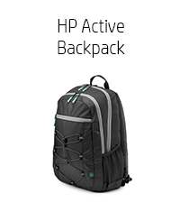 """HP Active Backpack - 15.6"""" Black/Green (Expedition, 1LU22AA)"""