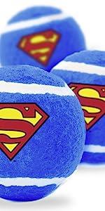 Superman Shield Logo Tennis Ball Fetch Toy Dog Pet Clark Kent Justice League man of steel