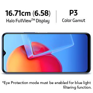 16.71 cm (6.58) Halo FullView Display