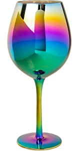 Rainbow wine glasses