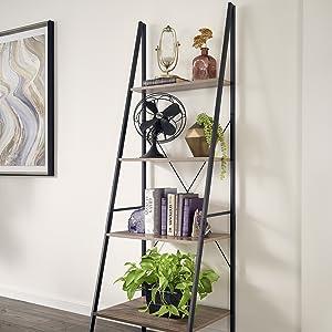 Living Room, Office, Bedroom, Leaning Shelf, Angle Shelf, Ladder Shelf,
