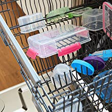 Sistema To Go Top-rack dishwasher, freezer, and microwave safe.